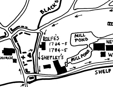 Map for Rolfe's Mill